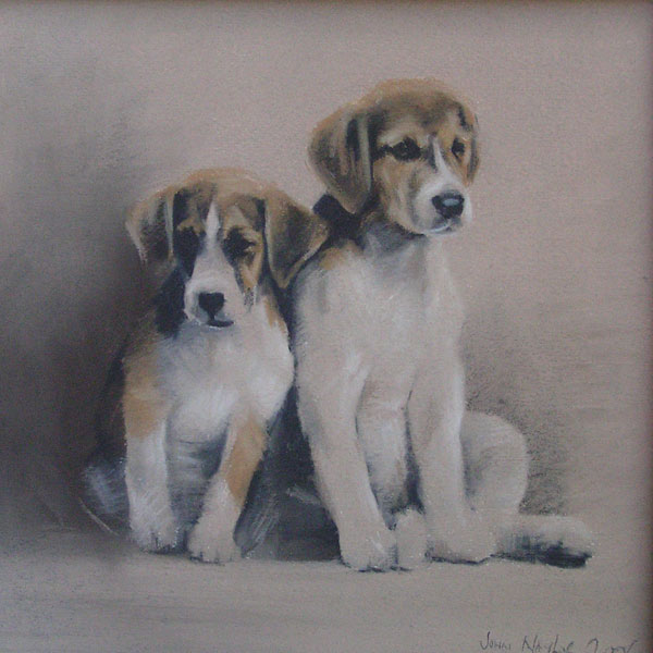 Foxhound Pups - Giclée Print
