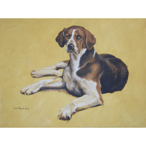 Holderness Foxhound - Oil on Board